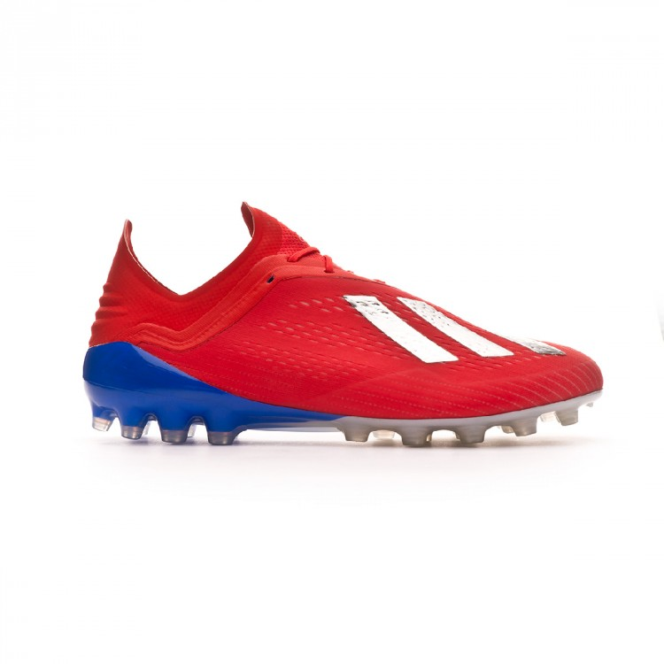 detailed look 8a7be f162d adidas X 18.1 AG Exhibit - Action Red Silver Metallic Bold Blue   F36087    FOOTY.COM