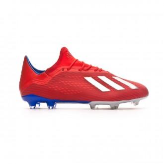 Bota  adidas X 18.2 FG Active red-Silver metallic-Bold blue