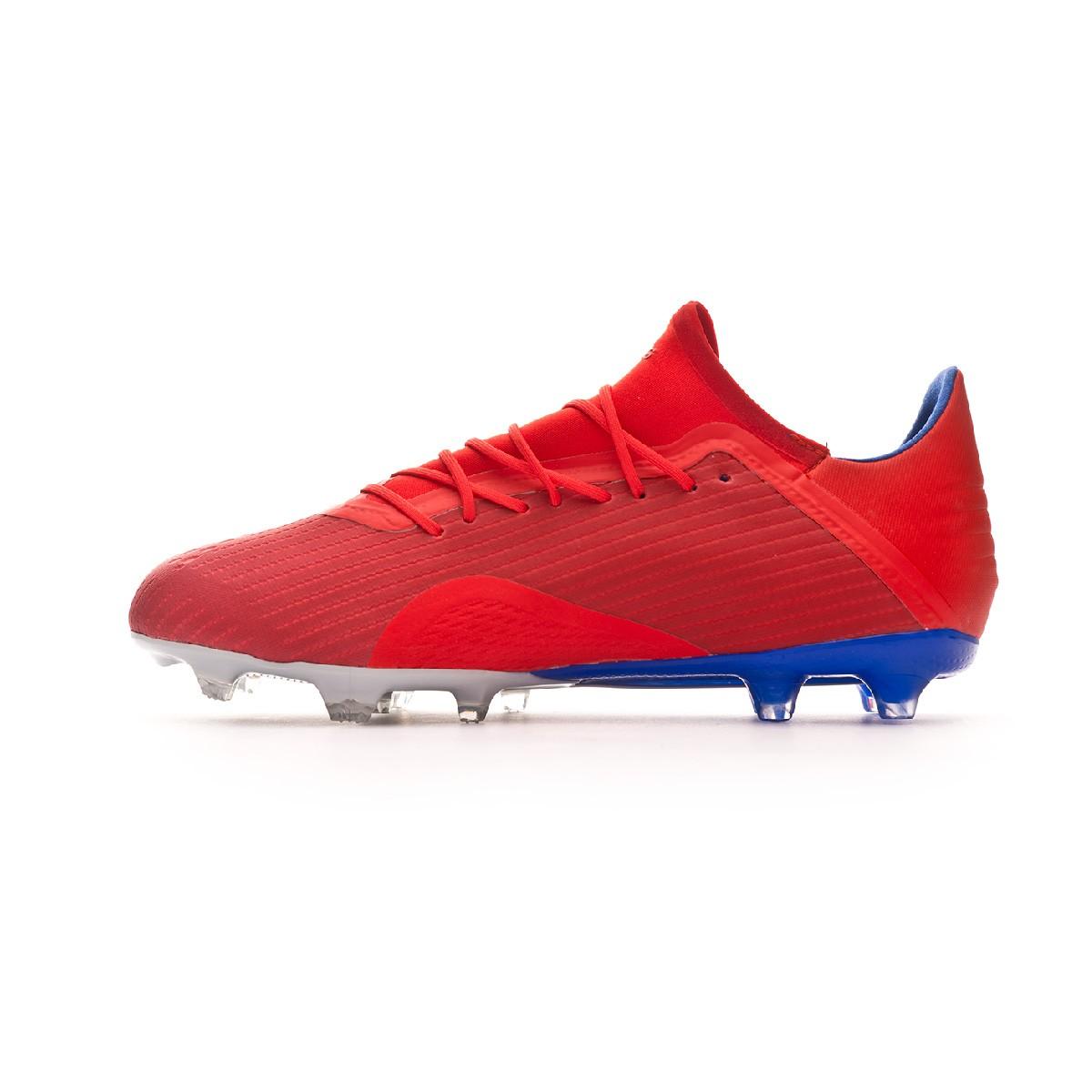 Bota de fútbol adidas X 18.2 FG Active red Silver metallic