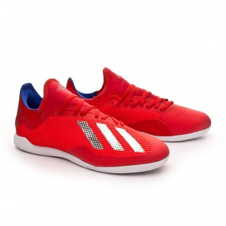 Sapatilha de Futsal adidas X Tango 18.3 IN Active red-Silver metallic-Bold blue