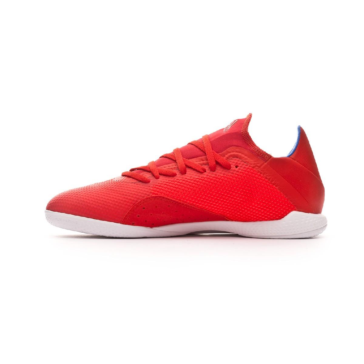 d360ddb0cddcc Sapatilha de Futsal adidas X Tango 18.3 IN Active red-Silver metallic-Bold  blue - Loja de futebol Fútbol Emotion