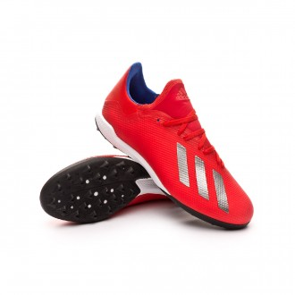 Football Boot  adidas X Tango 18.3 Turf Active red-Silver metallic-Bold blue