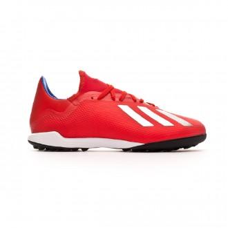 Sapatilhas adidas X Tango 18.3 Turf Active red-Silver metallic-Bold blue