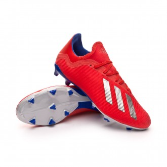 Boot  adidas X 18.3 FG Active red-Silver metallic-Bold blue