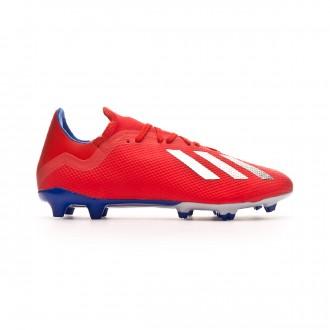 Bota  adidas X 18.3 FG Active red-Silver metallic-Bold blue