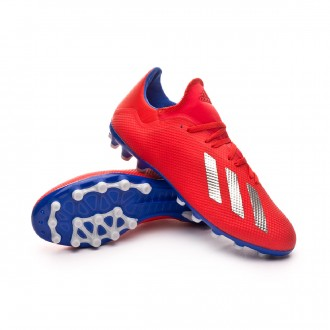 Football Boots  adidas X 18.3 AG Active red-Silver metallic-Bold blue