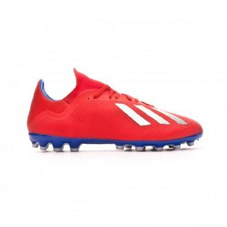 Bota  adidas X 18.3 AG Active red-Silver metallic-Bold blue