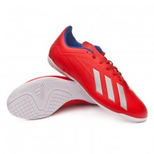 Zapatilla X Tango 18.4 IN Active red-Silver metallic-Bold blue