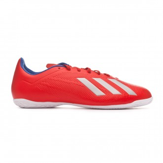Zapatilla adidas X Tango 18.4 IN Active red-Silver metallic-Bold blue
