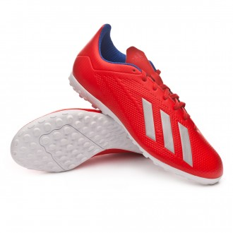 Football Boot  adidas X Tango 18.4 Turf Active red-Silver metallic-Bold blue