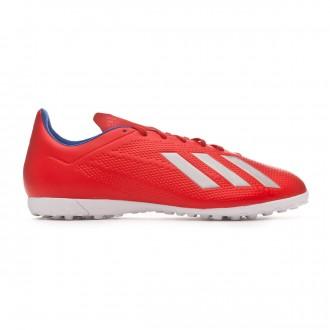 Zapatilla  adidas X Tango 18.4 Turf Active red-Silver metallic-Bold blue