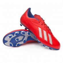 Bota X 18.4 FG Active red-Silver metallic-Bold blue