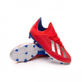 Boot  adidas Kids X 18.1 FG Active red-Silver metallic-Bold blue