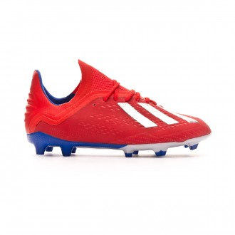 Bota adidas X 18.1 FG Niño Active red-Silver metallic-Bold blue