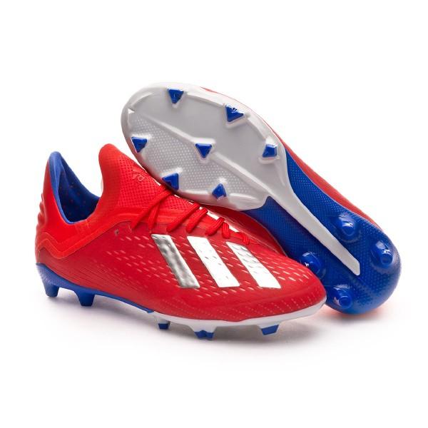 22e5884b55b5c Chuteira adidas X 18.1 FG Crianças Active red-Silver metallic-Bold blue -  Loja de futebol Fútbol Emotion