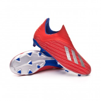 Bota  adidas X 18+ FG Niño Active red-Silver metallic-Bold blue