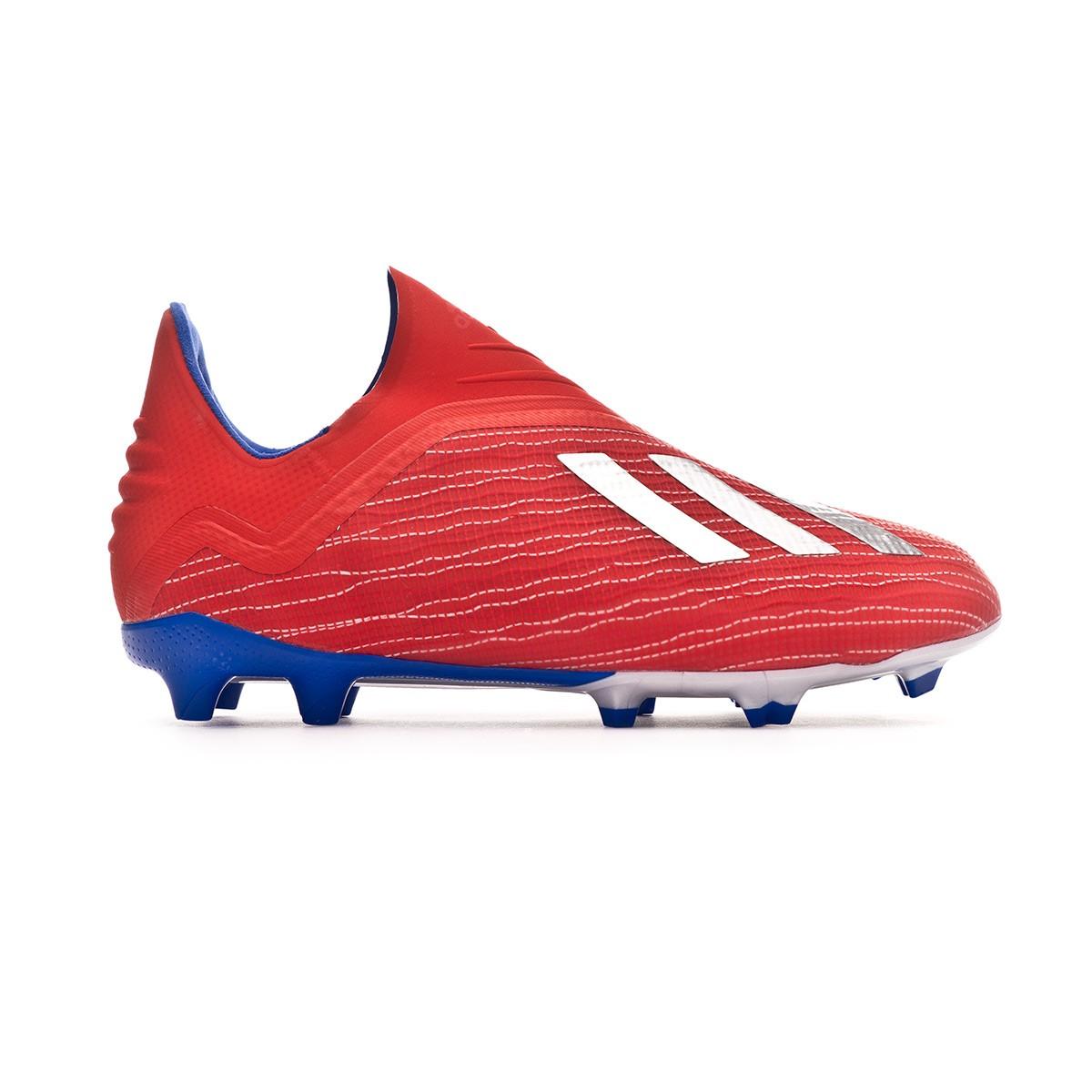 bd3f718745b54 Chuteira adidas X 18+ FG Crianças Active red-Silver metallic-Bold blue -  Loja de futebol Fútbol Emotion