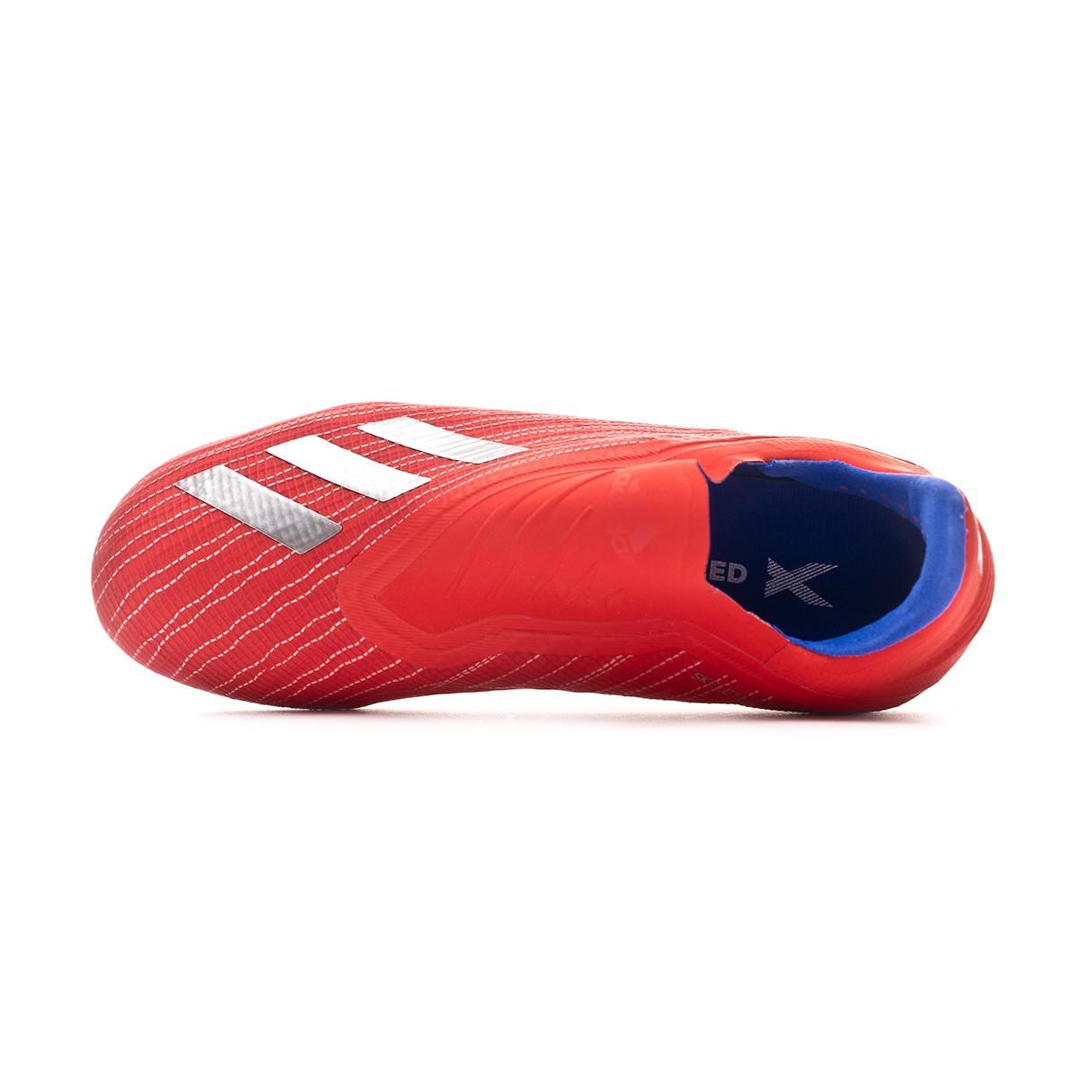 Scarpe adidas X 18+ FG Junior Active red-Silver metallic-Bold blue -  Negozio di calcio Fútbol Emotion c033c95666c