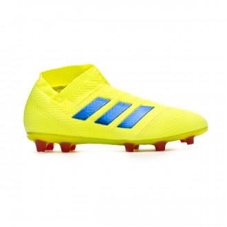 Football Boots  adidas Nemeziz 18+ FG Niño Solar yellow-Football blue-Active red