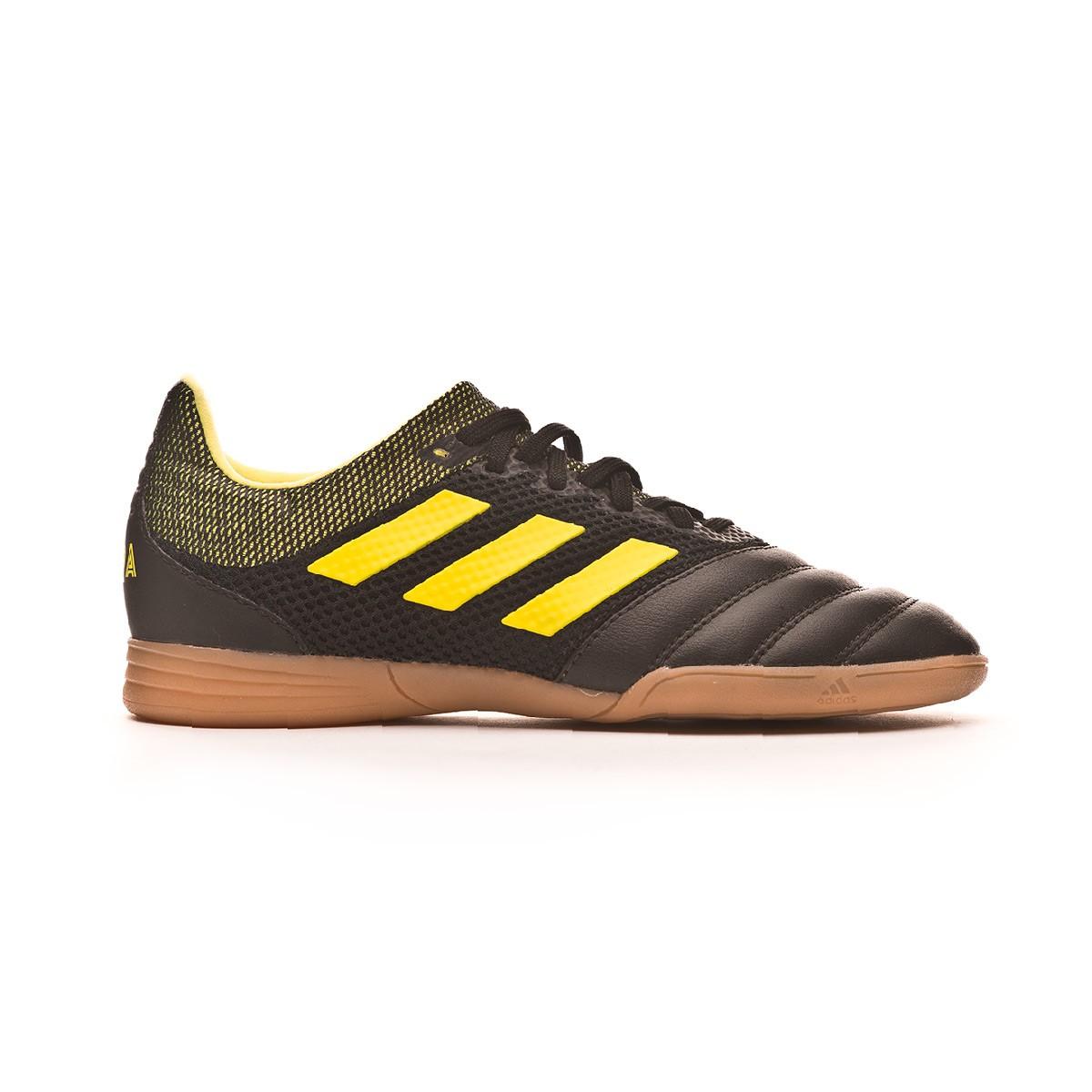 8cbb3db09 Futsal Boot adidas Kids Copa 19.3 IN Sala Core black-Solar yellow -  Football store Fútbol Emotion