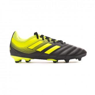 Chuteira adidas Copa 19.3 FG Crianças Core black-Solar yellow