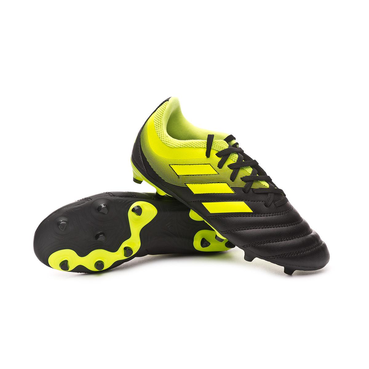 a8c6408d4 adidas Copa 19.3 FG Niño Football Boots. Core black-Solar yellow ...