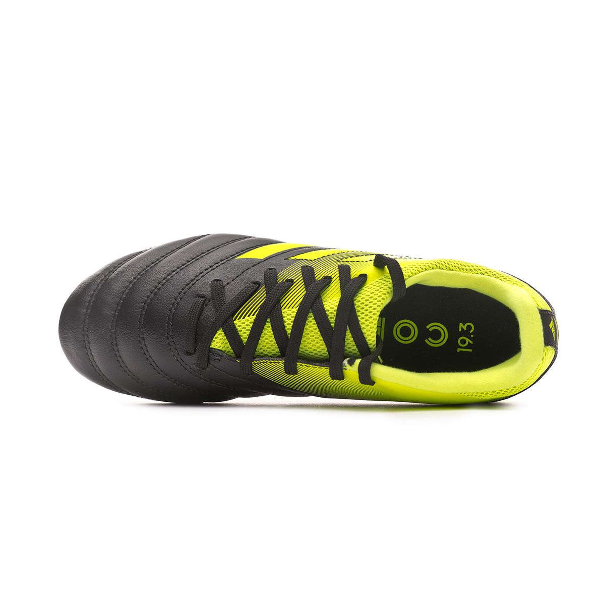 6c8b7380ac405 Zapatos de fútbol adidas Copa 19.3 FG Niño Core black-Solar yellow - Tienda  de fútbol Fútbol Emotion