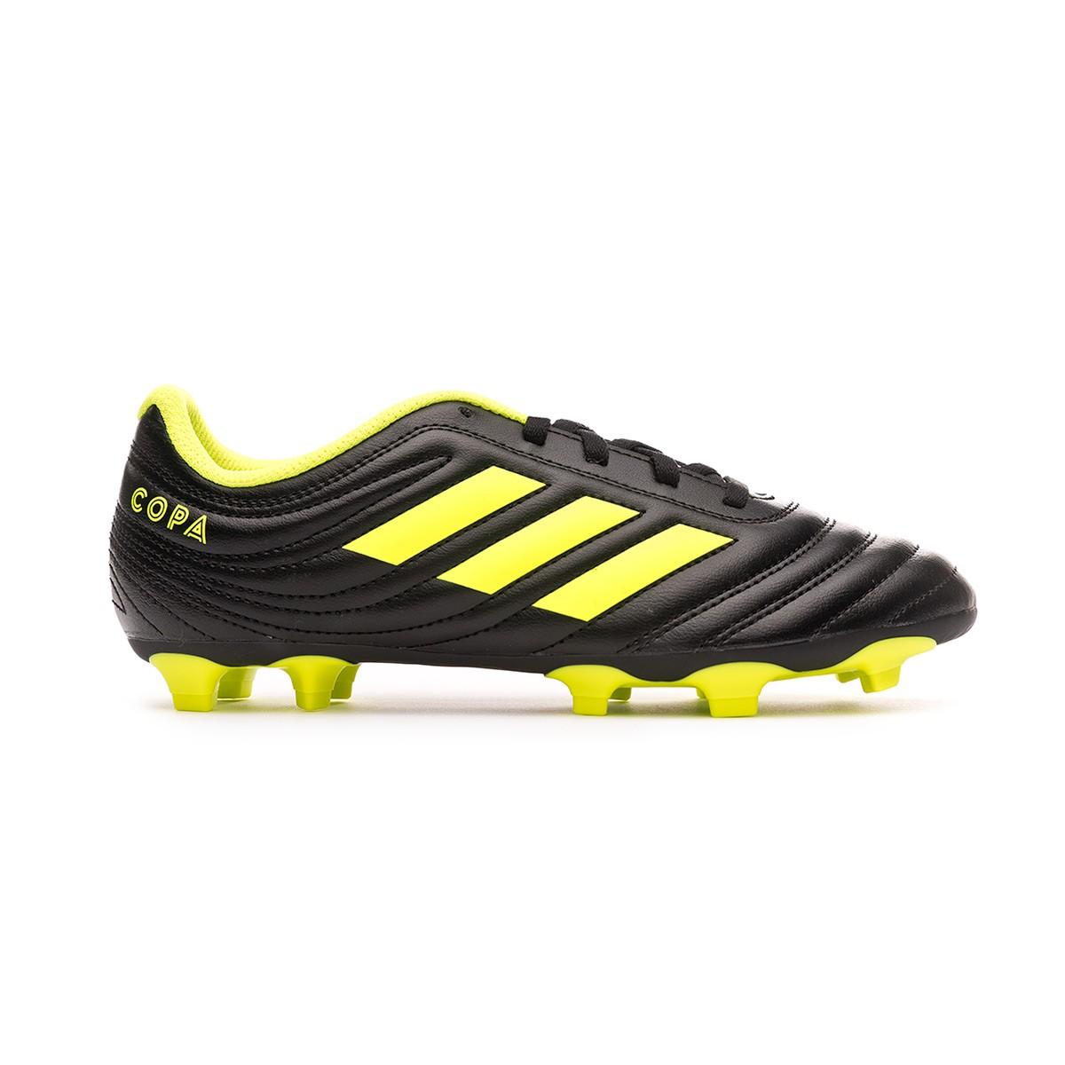 37a715b5410b7 Zapatos de fútbol adidas Copa 19.4 FG Niño Core black-Solar yellow-Core  black - Tienda de fútbol Fútbol Emotion