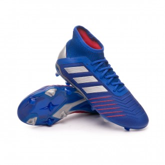 Scarpe   adidas Predator 19.1 FG Junior Bold blue-Silver metallic-Football blue