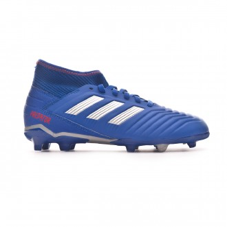 Bota  adidas Predator 19.3 FG Niño Bold blue-Silver metallic-Active red