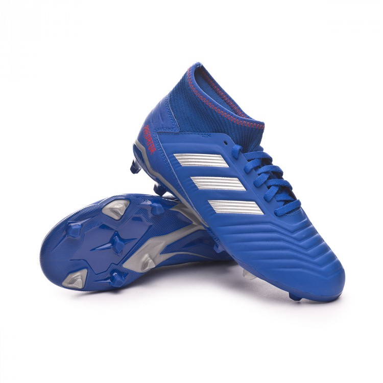 Bota de fútbol adidas Predator 19.3 FG Niño Bold blue-Silver ... aa4a995bc9b3a