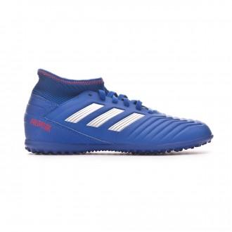 Zapatilla  adidas Predator Tango 19.3 Turf Niño Bold blue-Silver metallic-Active red