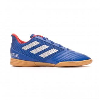 Sapatilha de Futsal adidas Predator Tango 19.4 IN Sala Crianças Bold blue-Silver metallic-Active red