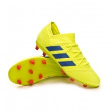 Bota Nemeziz 18.1 FG Niño Solar yellow-Football blue-Active red