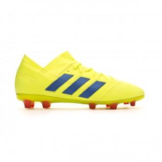 Bota  adidas Nemeziz 18.1 FG Niño Solar yellow-Football blue-Active red