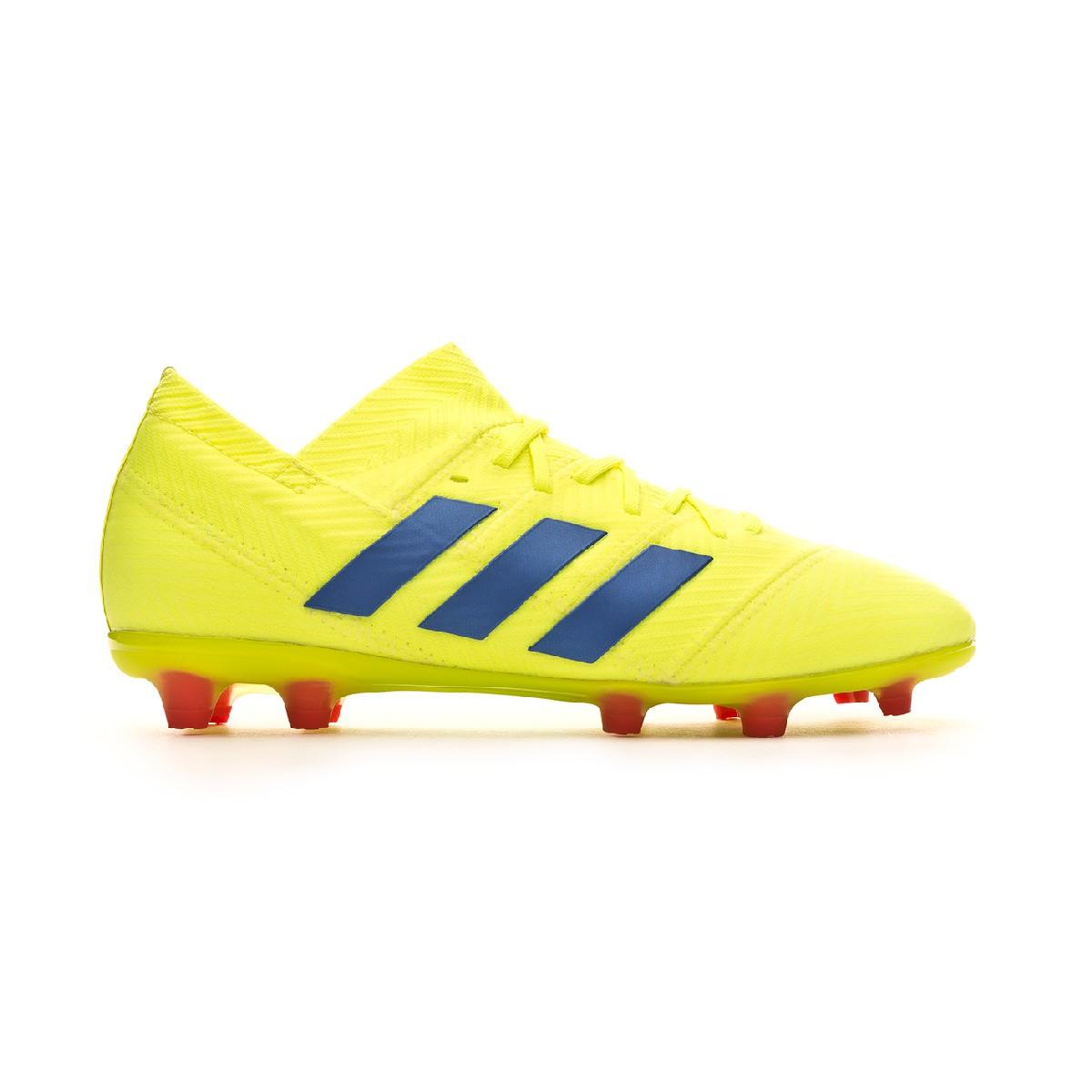 best website 12c92 d45c4 Football Boots adidas Kids Nemeziz 18.1 FG Solar yellow-Football blue-Active  red - Football store Fútbol Emotion