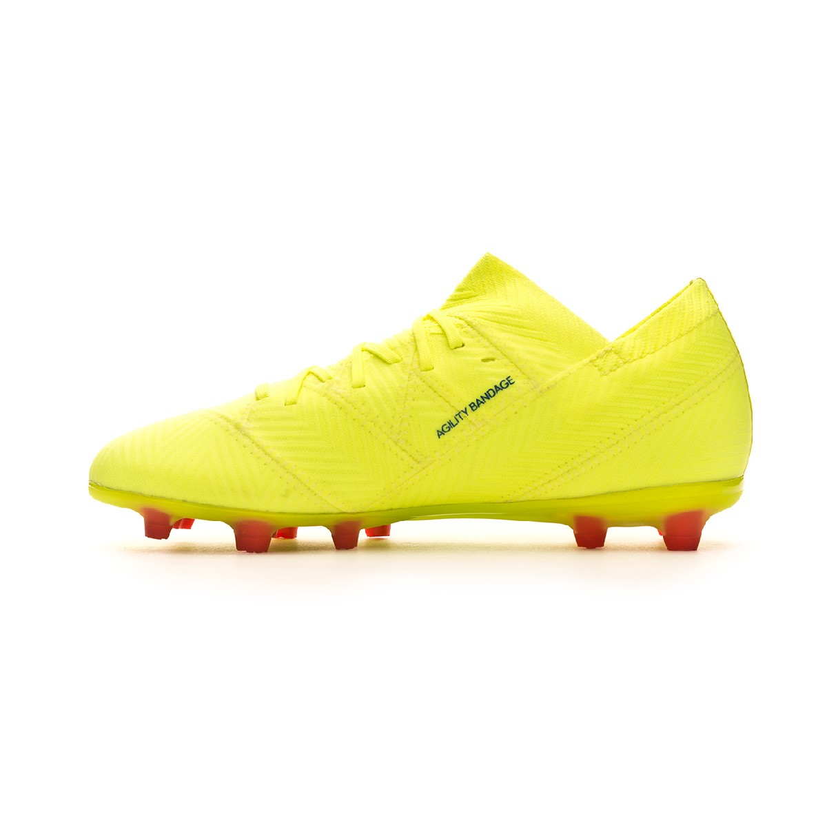 4939db8a98e541 Boot adidas Kids Nemeziz 18.1 FG Solar yellow-Football blue-Active red -  Football store Fútbol Emotion