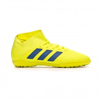 Zapatilla adidas Nemeziz Tango 18.3 Turf Niño Solar yellow-Football blue-Active red