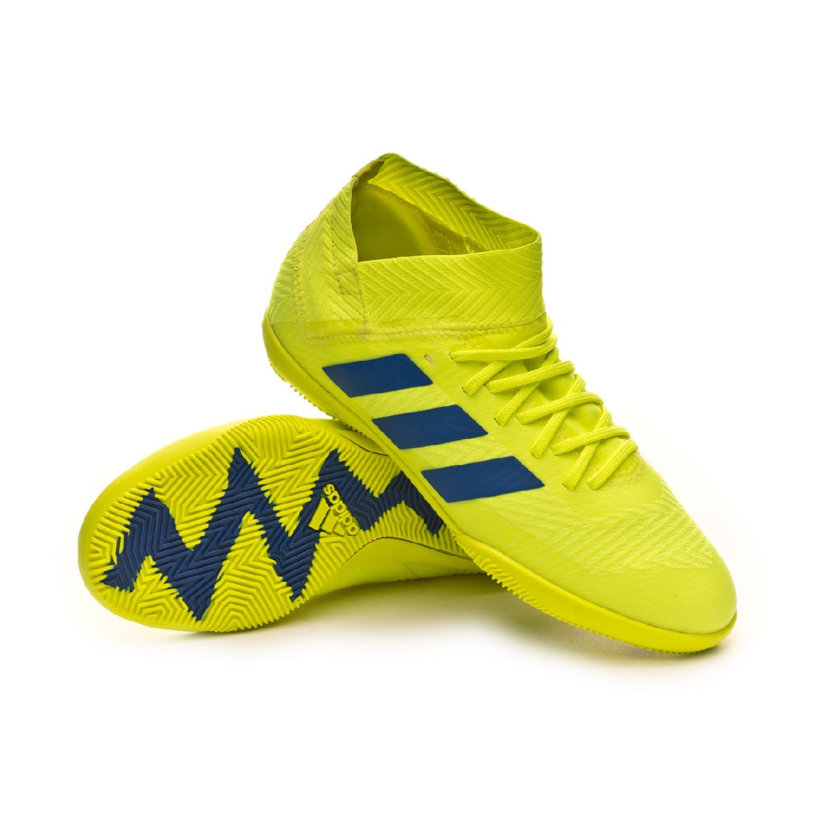 1b38fcea2db55 Futsal Boot adidas Nemeziz Tango 18.3 IN Niño Solar yellow-Football ...