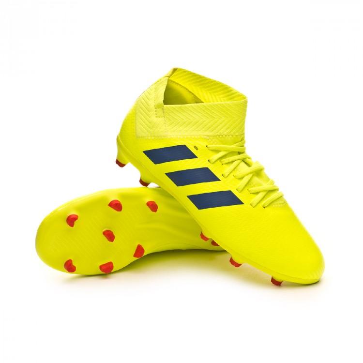 sports shoes 5c917 d8d3b bota-adidas-nemeziz-18.3-fg-nino-solar-yellow-