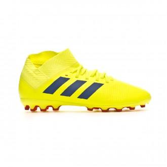 Chuteira adidas Nemeziz 18.3 AG Crianças Solar yellow-Football blue-Active red