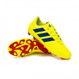 Bota  adidas Nemeziz 18.4 FxG Niño Solar yellow-Football blue-Active red
