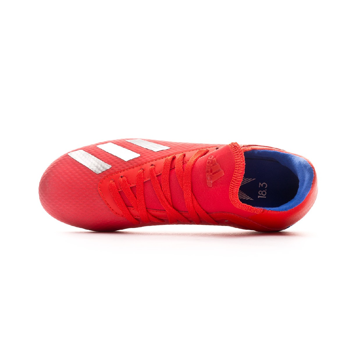 60631f5a2 Football Boots adidas Kids X 18.3 FG Active red-Silver metallic-Bold blue -  Football store Fútbol Emotion