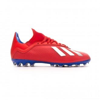 Bota  adidas X 18.3 AG Niño Active red-Silver metallic-Bold blue