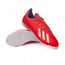 Zapatilla X Tango 18.4 IN Niño Active red-Silver metallic-Bold blue
