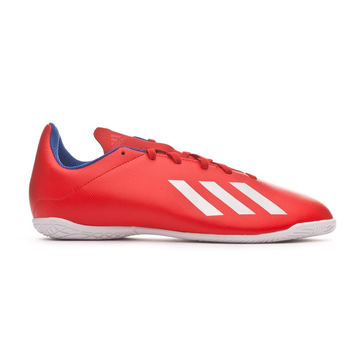 dfeddbf44 Futsal Boot adidas Kids X Tango 18.4 IN Active red-Silver metallic-Bold blue  - Tienda de fútbol Fútbol Emotion