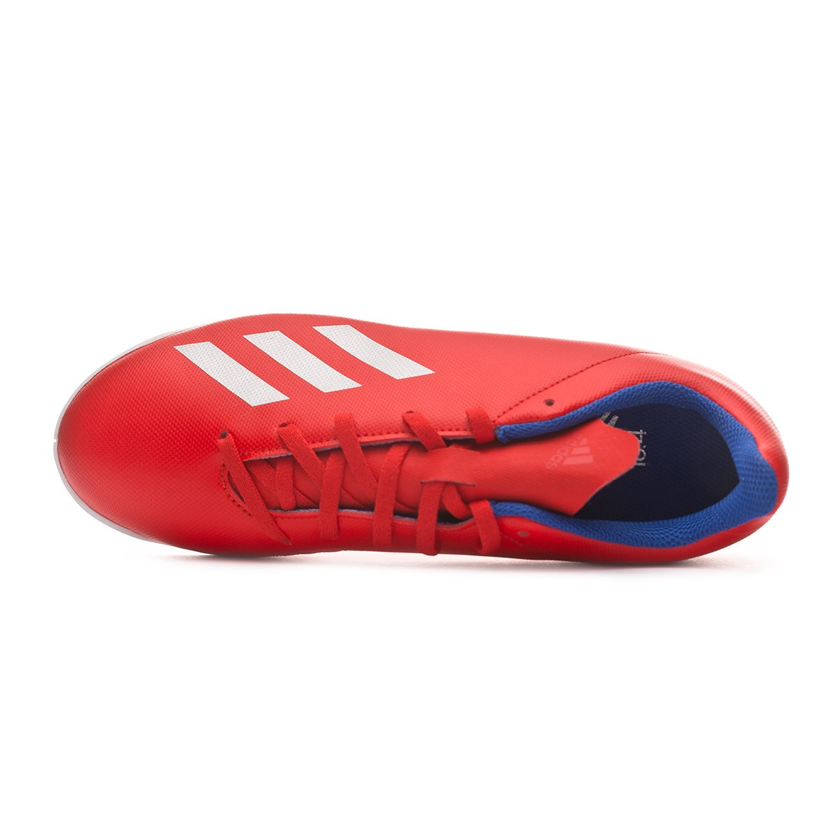 cc1bac97c Futsal Boot adidas Kids X Tango 18.4 IN Active red-Silver metallic-Bold blue  - Tienda de fútbol Fútbol Emotion