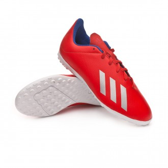 Football Boot  adidas X Tango 18.4 Turf Niño Active red-Silver metallic-Bold blue