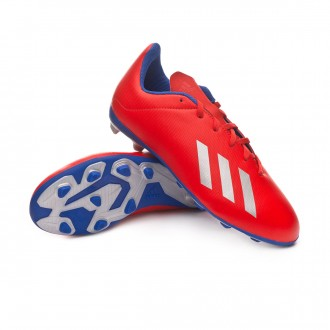 Boot  adidas X 18.4 FxG Niño Active red-Silver metallic-Bold blue