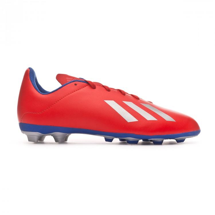 Scarpe adidas X 18.4 FxG Junior Active red-Silver metallic-Bold blue ... 017fa0d4836